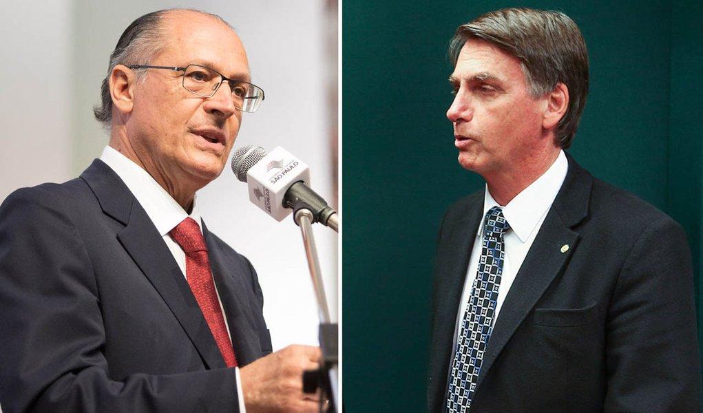 Estagnado, Alckmin vai para cima de Bolsonaro na briga pelos votos da direita