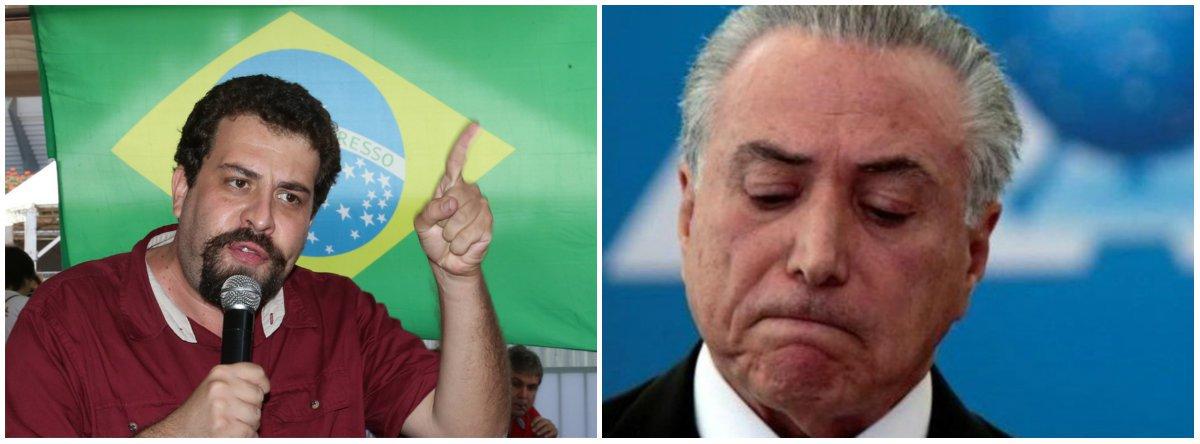 Boulos: 'governo Temer é o maior fracasso da história recente do País'