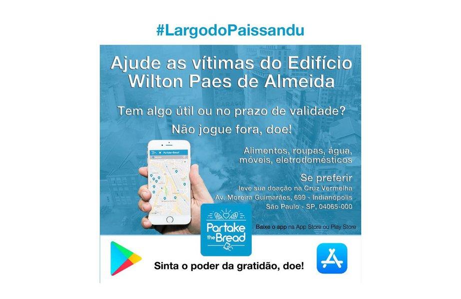 Aplicativo brasileiro quer ajudar vítimas de desabamento no Paissandu