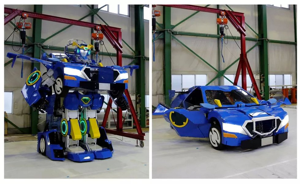Japão exibe robô humanóide que se transforma num carro em 60 segundos
