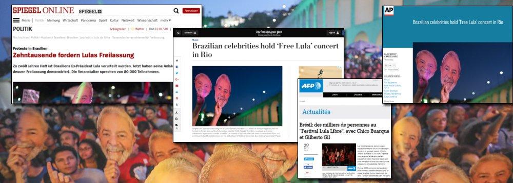 Festival Lula Livre repercute em sites de todo o mundo