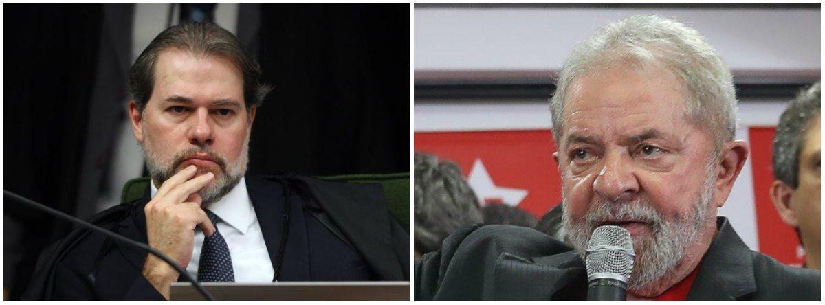 Toffoli nega habeas corpus protocolado a favor de Lula