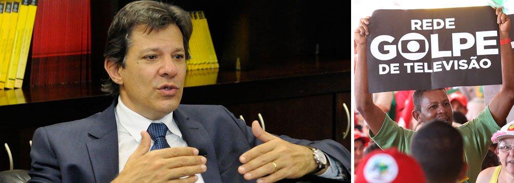 Haddad confronta jornalistas a serviço da família Marinho