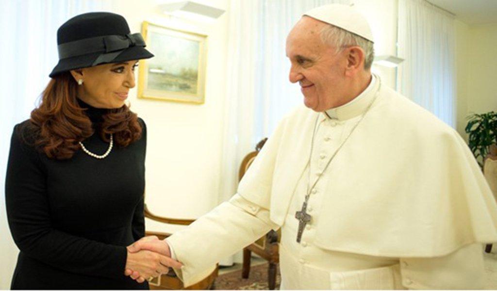 Papa Francisco deseja Cristina Kirchner na presidência do país em 2019