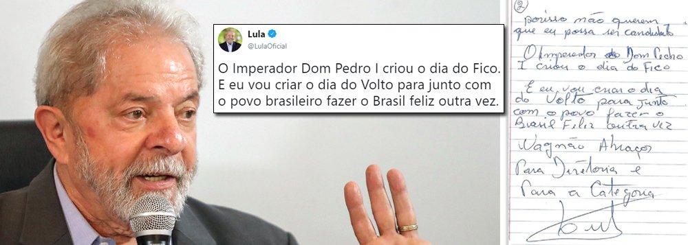 Lula avisa: vou criar o Dia do Volto