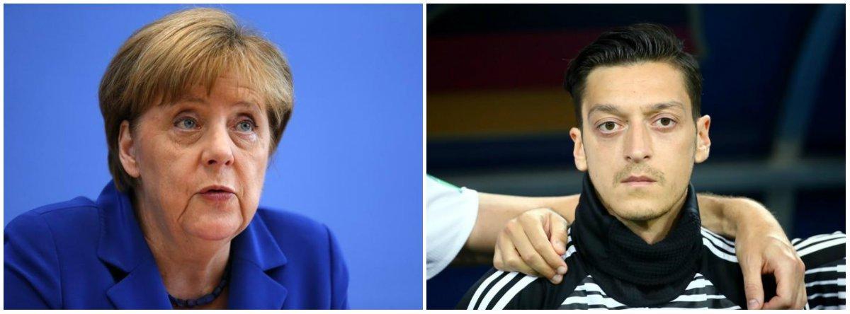 Angela Merkel homenageia Özil e diz que respeita aposentadoria da seleção
