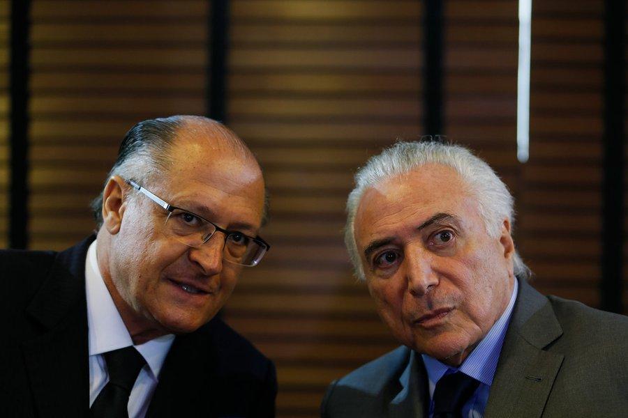 PSDB de Alckmin e centrão votaram juntos com Temer e o golpe