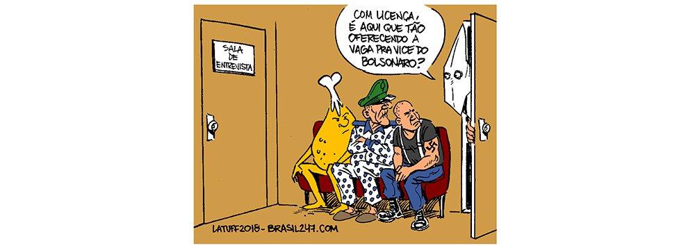 Latuff: Bolsonaro e a busca por um vice