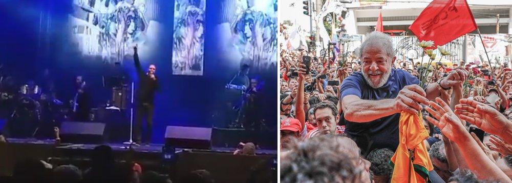 Cantor Diogo Nogueira pede Lula Livre durante show em PE