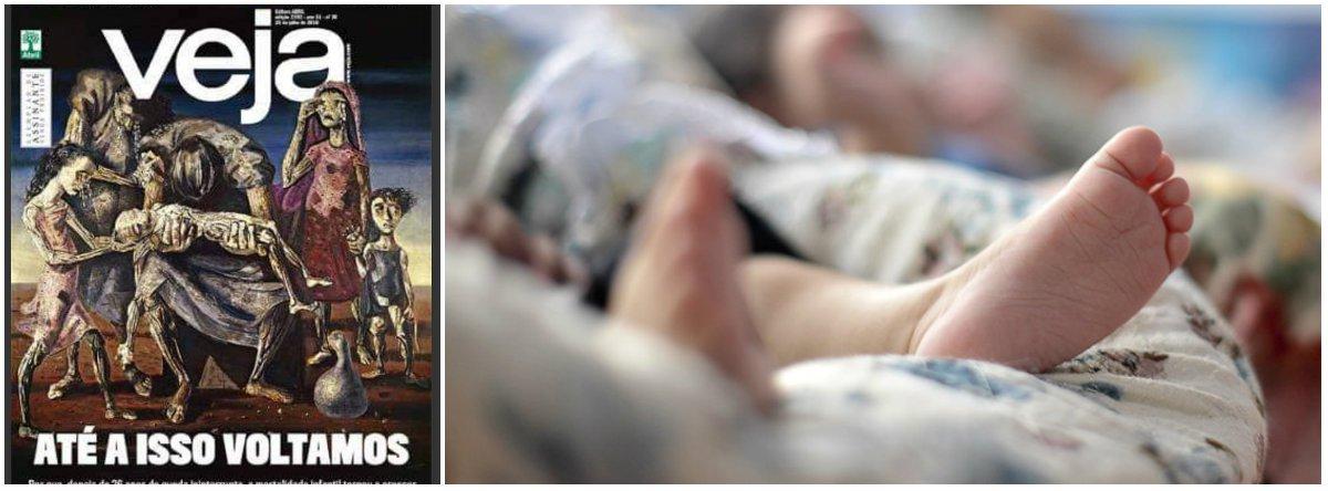 Golpe apoiado por Veja produz morte de crianças e ela finge que se espanta