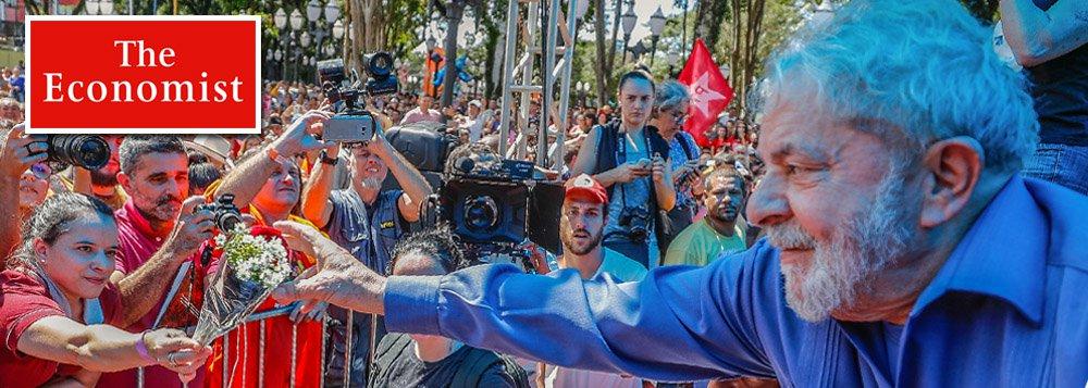 The Economist: brasileiros considerarão eleição ilegítima se Lula não concorrer