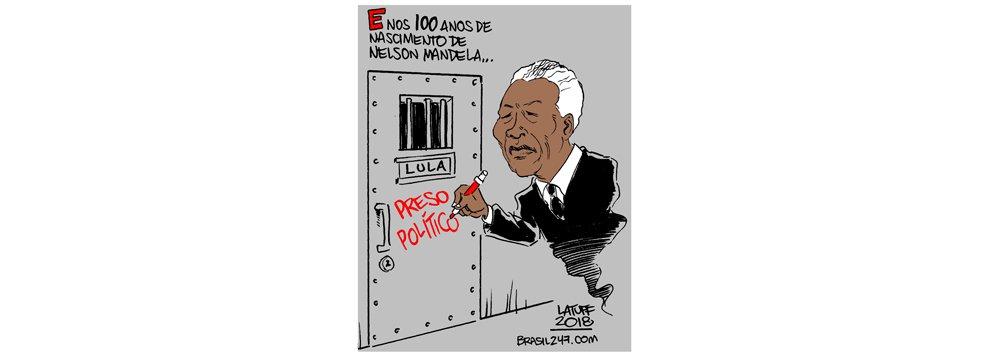 Latuff, os 100 anos de Mandela e a prisão política de Lula