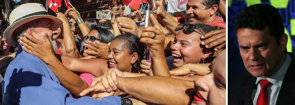Pesquisa Ipsos: Lula já é mais aprovado e menos rejeitado do que Moro