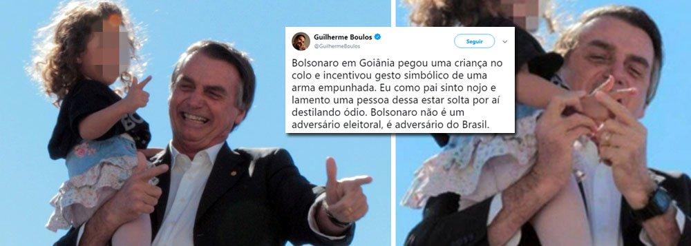 Presidenciáveis criticam gesto de arma feito por Bolsonaro com criança