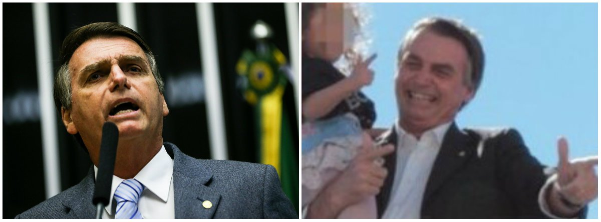 Tirem as crianças do colo de Bolsonaro!