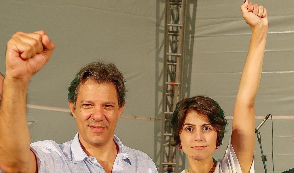 Haddad e Manuela começam campanha juntos nesta terça