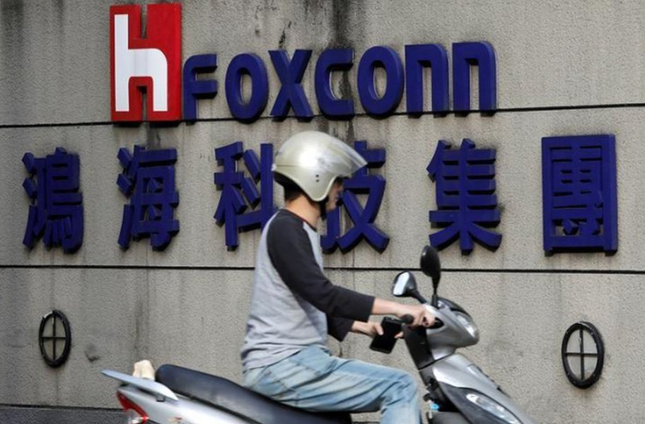 Foxconn registra queda do lucro no 2º tri
