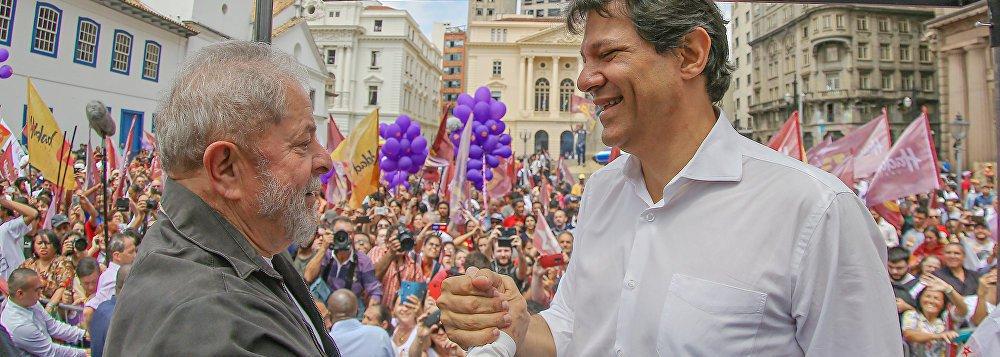 Haddad vai incorporar o nome de Lula em registro de candidatura