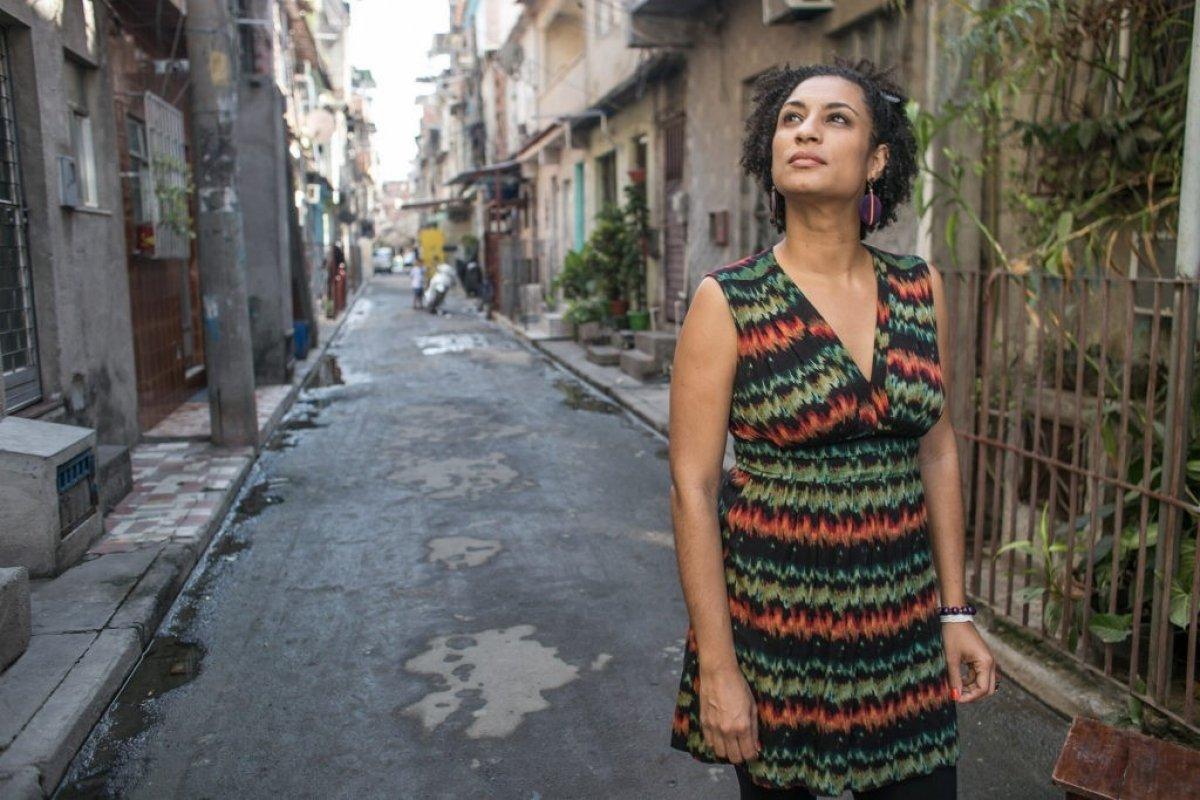 Marielle Franco é homenageada na Marcha Nacional Lula Livre