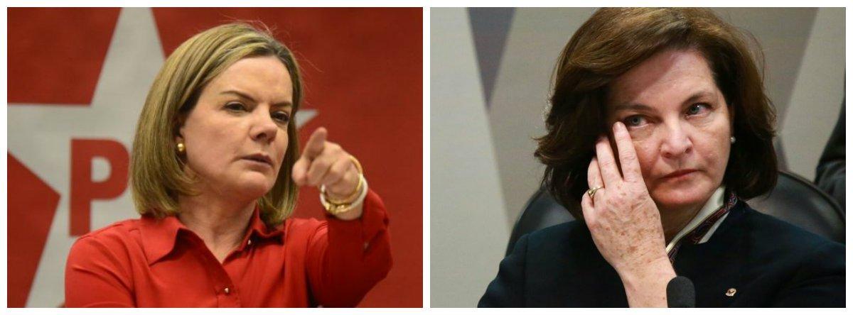 Gleisi quer convocar Raquel Dodge ao Senado para prestar explicações
