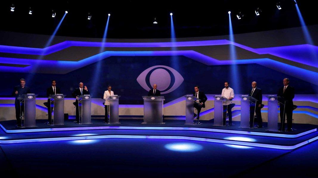 Primeiro debate dos presidenciáveis na TV esvaziou-se pelas aberrações