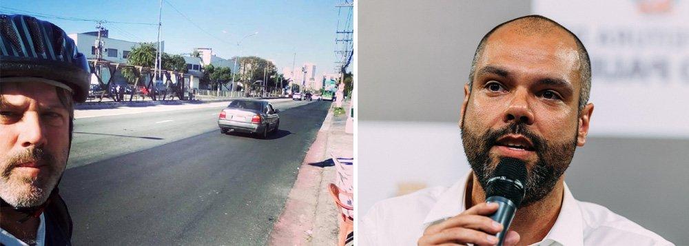 Jornalista americano denuncia destruição de mais uma ciclovia em São Paulo