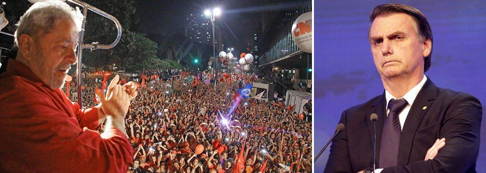 Na ausência de Lula, Bolsonaro foi tratado a pão de ló na Band
