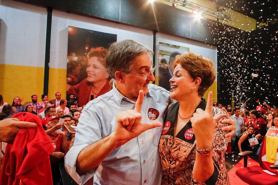 """Coligação de Pimentel vai se chamar """"Lula Livre"""""""