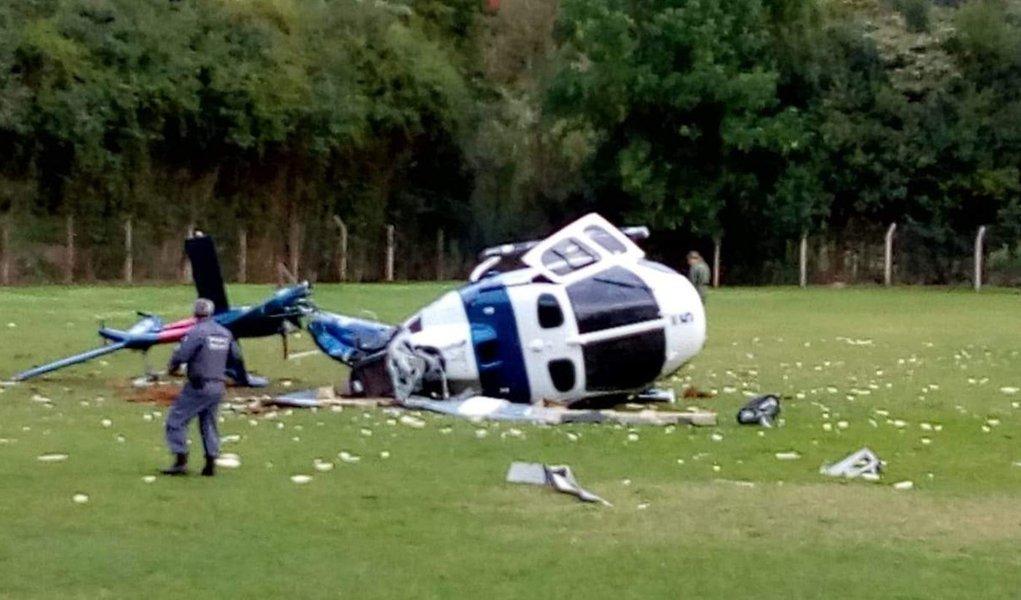 Helicóptero com governador do Espírito Santo cai em fazenda
