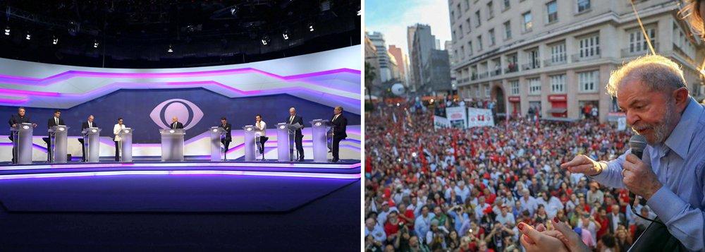 Debate sem Lula deixou um vazio no telespectador