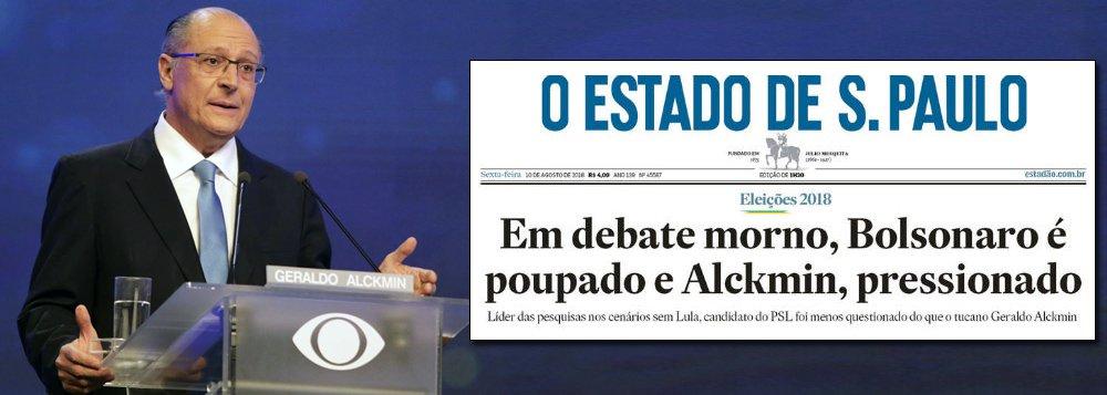 Tijolaço: 'Estadão' não esconde 'dor de cotovelo' por mau desempenho de Alckmin