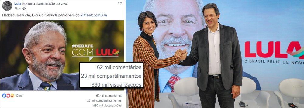 Debate de Lula na internet viralizou: primeiros números indicam audiência de mais de um milhão