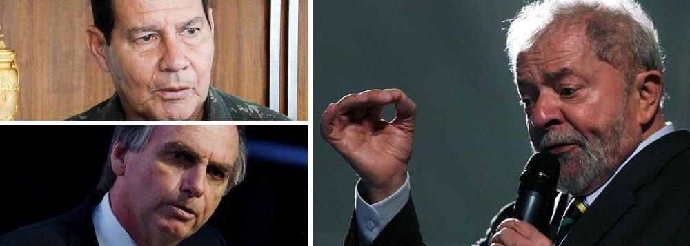 Vice de Bolsonaro prega golpe militar se Lula for candidato