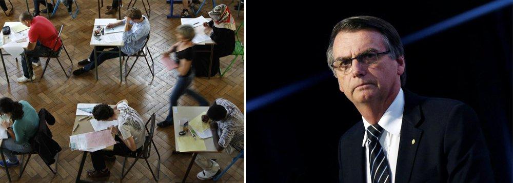 Bolsonaro propõe barbaridades na educação
