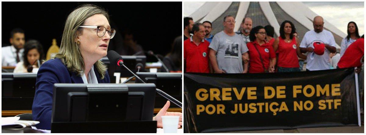 'Grevistas transformam a fome em luta para dar um basta na fome'