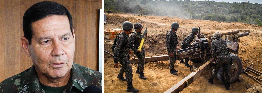 Coronel acusa Mourão de favorecer empresa em contrato do Exército