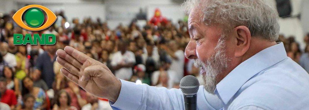 PT vai à Justiça para Lula estar no debate da Band