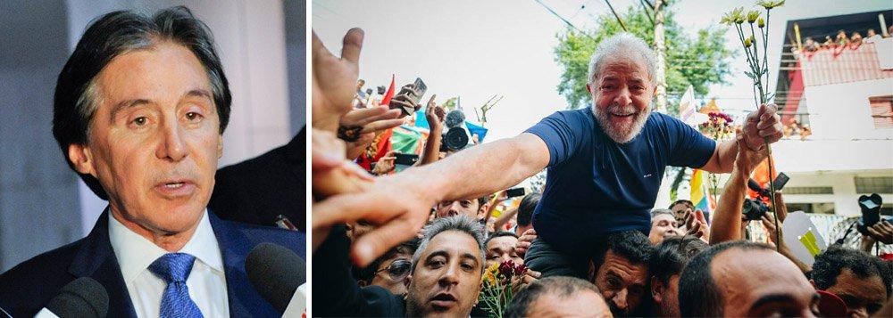 Presidente do Senado diz que Brasil só terá eleição livre se Lula participar