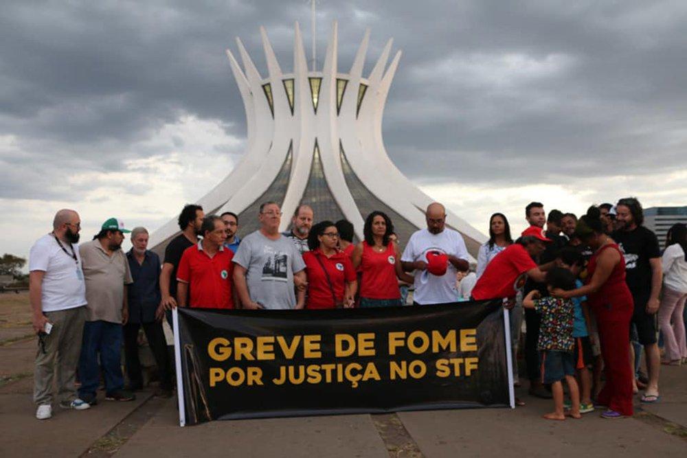 Após 8 dias de jejum, manifestantes querem audiência com ministros do STF