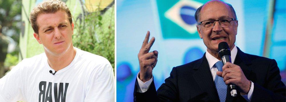 'Alckmin é a velha política', diz Huck