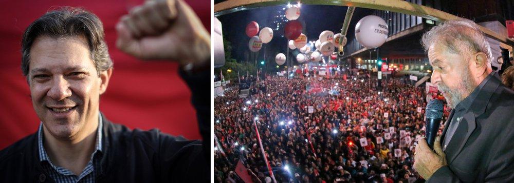 Como 'candidato de Lula', Haddad assume segunda posição, aponta pesquisa
