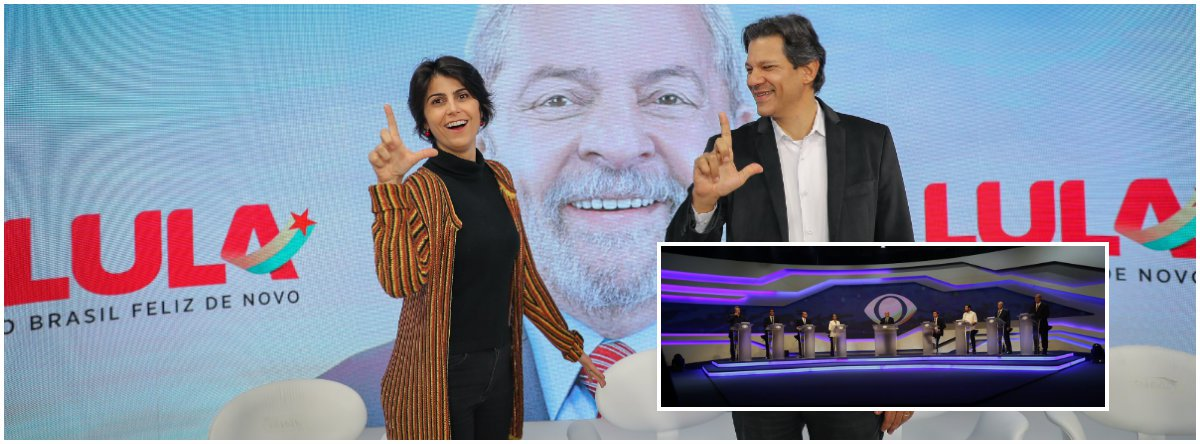 Preso em Curitiba, Lula venceu os dois debates da noite