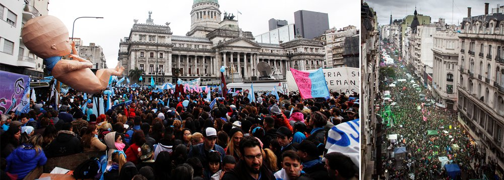 Aborto legal na Argentina é derrubado por quem nunca vai engravidar