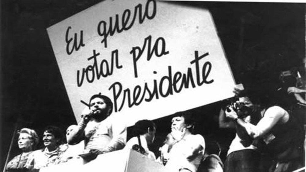 """A TV-Bandeirantes e o grande comício das """"Diretas, Já!"""" em 84"""