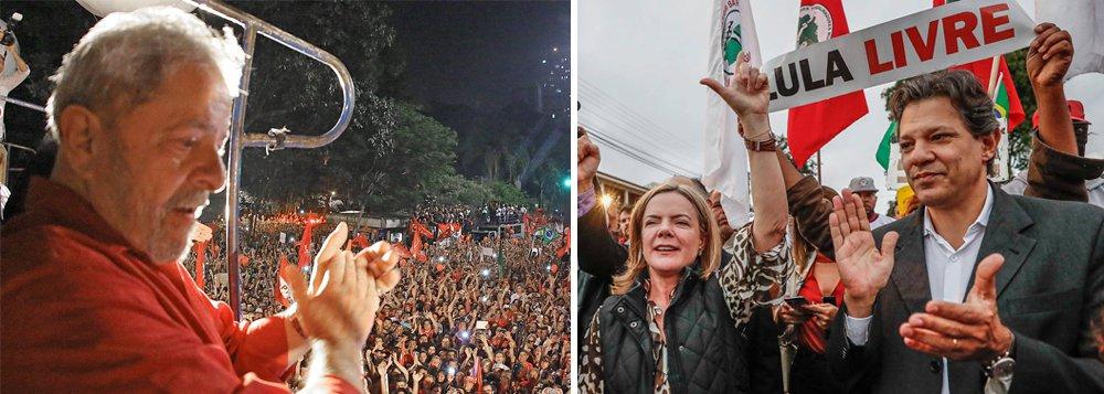 Gleisi e Haddad vão para Curitiba definir com Lula quem será seu vice