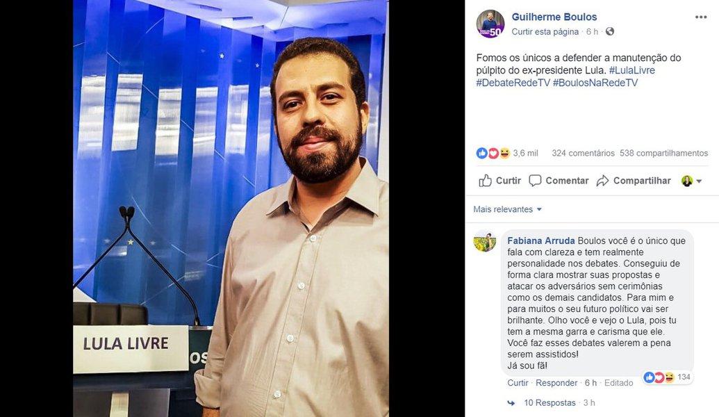 Boulos protesta contra retirada de púlpito de Lula pela RedeTV!