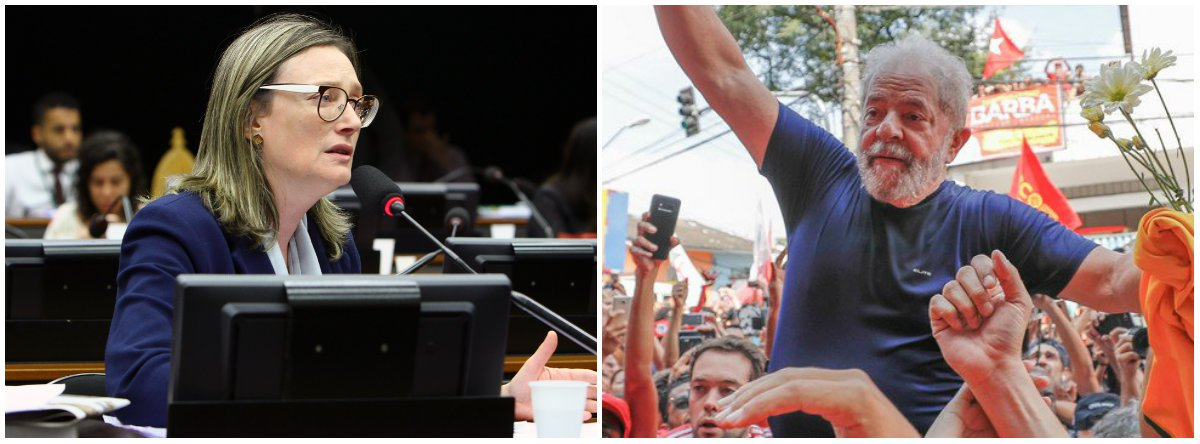 Maria do Rosário: Justiça deve retirar imediatamente impugnação a Lula
