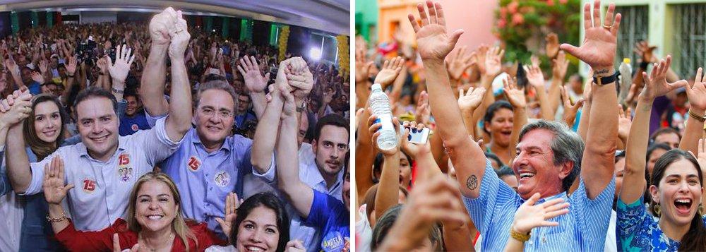 Ibope/TV Gazeta: Renan Filho tem 46% e Collor, 22%, das intenções para o governo
