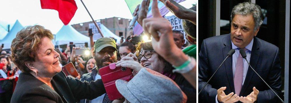 Dilma mantém patrimônio e Aécio mais que duplica