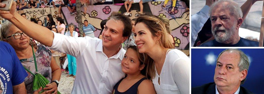No 1º ato de campanha, Camilo pede votos pra Lula e Ciro